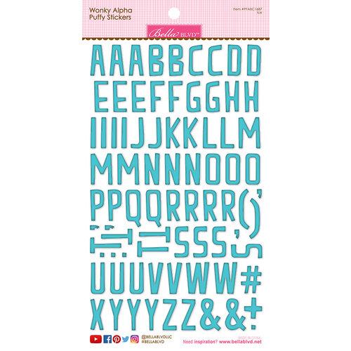 Bella Blvd - Puffy Stickers - Wonky Alphabet - Ice