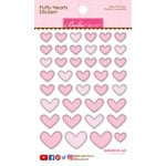 Bella Blvd - Puffy Stickers - Hearts - Cotton Candy Mix