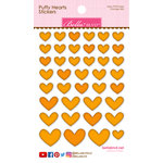 Bella Blvd - Puffy Stickers - Hearts - Orange Mix