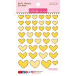 Bella Blvd - Puffy Stickers - Hearts - Bell Pepper Mix