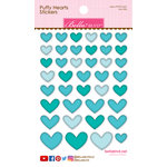 Bella Blvd - Puffy Stickers - Hearts - Ice Mix