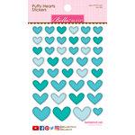 Bella Blvd - Puffy Stickers - Hearts - Ice Mix