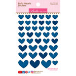 Bella Blvd - Puffy Stickers - Hearts - Blueberry Mix