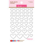 Bella Blvd - Puffy Stickers - Hearts - Milk White