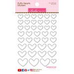 Bella Blvd - Puffy Stickers - Hearts - Milk White