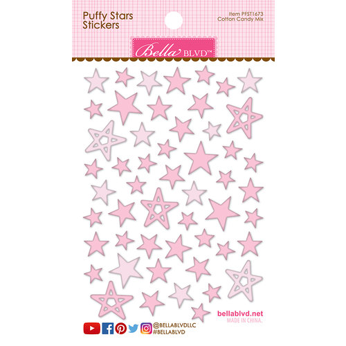 Bella Blvd - Puffy Stickers - Stars - Cotton Candy Mix