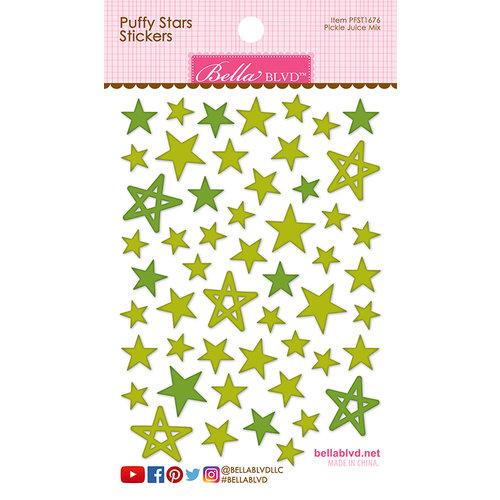 Bella Blvd - Puffy Stickers - Stars - Pickle Juice Mix