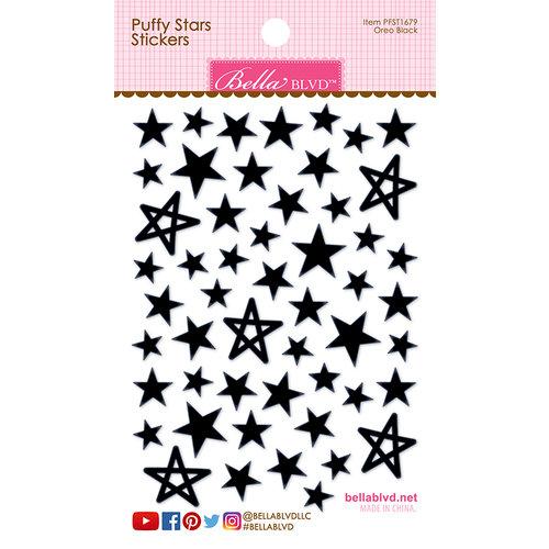 Bella Blvd - Puffy Stickers - Stars - Oreo Black