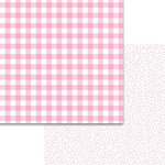 Bella Blvd - Plaids and Dotty Collection - 12 x 12 Double Sided Paper - Cotton Candy