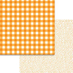 Bella Blvd - Plaids and Dotty Collection - 12 x 12 Double Sided Paper - Orange