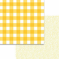 Bella Blvd - Plaids and Dotty Collection - 12 x 12 Double Sided Paper - Bell Pepper
