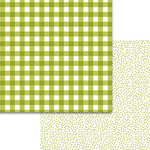 Bella Blvd - Plaids and Dotty Collection - 12 x 12 Double Sided Paper - Pickle Juice