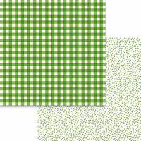 Bella Blvd - Plaids and Dotty Collection - 12 x 12 Double Sided Paper - Guacamole