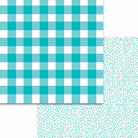 Bella Blvd - Plaids and Dotty Collection - 12 x 12 Double Sided Paper - Ice