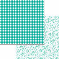 Bella Blvd - Plaids and Dotty Collection - 12 x 12 Double Sided Paper - Gulf
