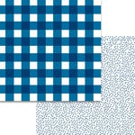 Bella Blvd - Plaids and Dotty Collection - 12 x 12 Double Sided Paper - Blueberry