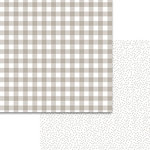 Bella Blvd - Plaids and Dotty Collection - 12 x 12 Double Sided Paper - Scallop