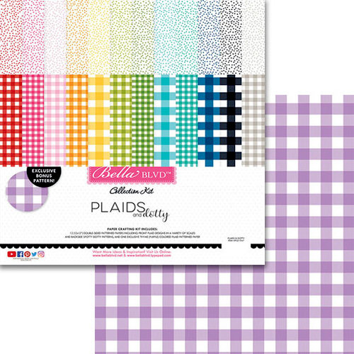 Bella Blvd - Plaids and Dotty Collection - 12 x 12 Collection Kit