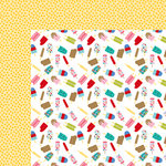 Bella Blvd - Popsicles and Pandas Collection - 12 x 12 Double Sided Paper - Popsicle Party
