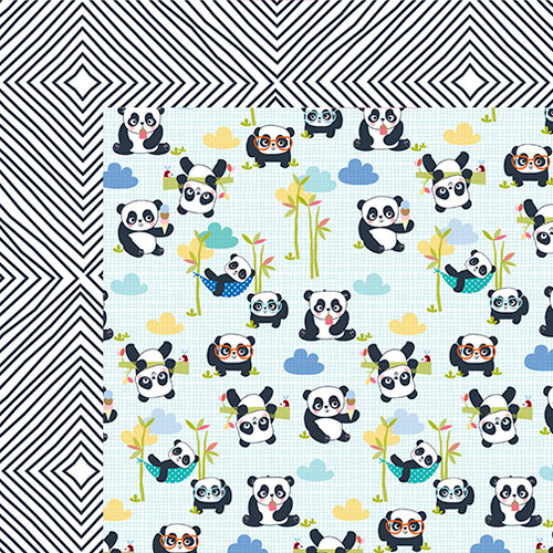Bella Blvd - Popsicles and Pandas Collection - 12 x 12 Double Sided Paper - Panda Life