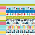 Bella Blvd - Popsicles and Pandas Collection - 12 x 12 Double Sided Paper - Borders