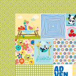 Bella Blvd - Popsicles and Pandas Collection - 12 x 12 Double Sided Paper - Daily Details