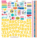 Bella Blvd - Popsicles and Pandas Collection - 12 x 12 Cardstock Stickers - Fundamentals