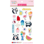 Bella Blvd - Popsicles and Pandas Collection - Puffy Stickers - Icons