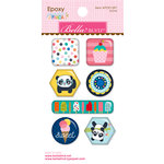 Bella Blvd - Popsicles and Pandas Collection - Epoxy Stickers - Icons