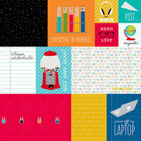 Bella Blvd - Pop Quiz Collection - 12 x 12 Double Sided Paper - Daily Details
