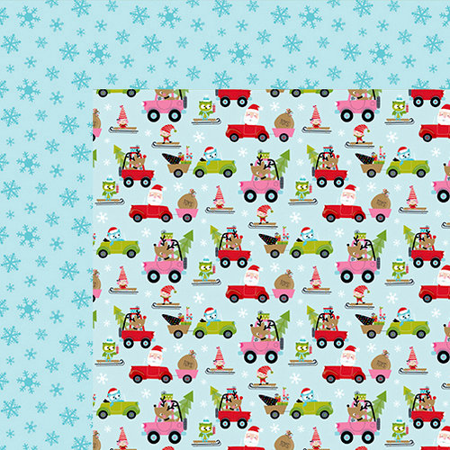 Bella Blvd - Santa Stops Here Collection - Christmas - 12 x 12 Double Sided Paper - Santa's on the Move