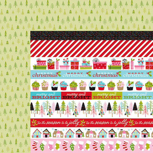 Bella Blvd - Santa Stops Here Collection - Christmas - 12 x 12 Double Sided Paper - Borders