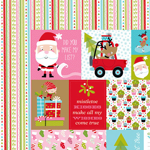 Bella Blvd - Santa Stops Here Collection - Christmas - 12 x 12 Double Sided Paper - Daily Details