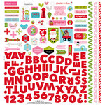 Bella Blvd - Santa Stops Here Collection - Christmas - 12 x 12 Cardstock Stickers - Fundamentals