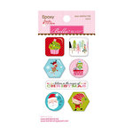 Bella Blvd - Santa Stops Here Collection - Christmas - Epoxy Stickers - Icons