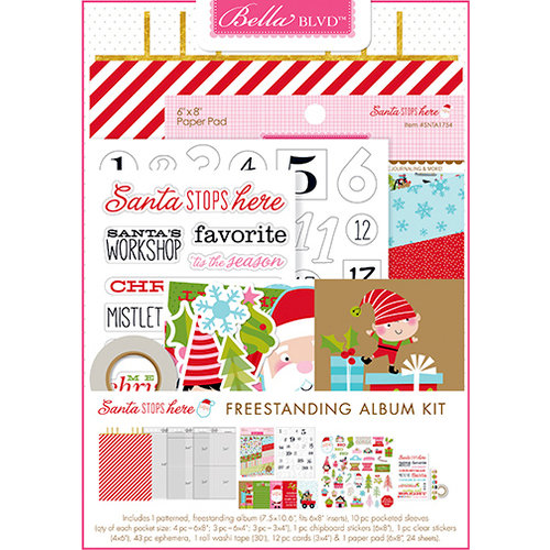 Bella Blvd - Santa Stops Here Collection - Christmas - Santa Stops Here Freestanding Album Kit