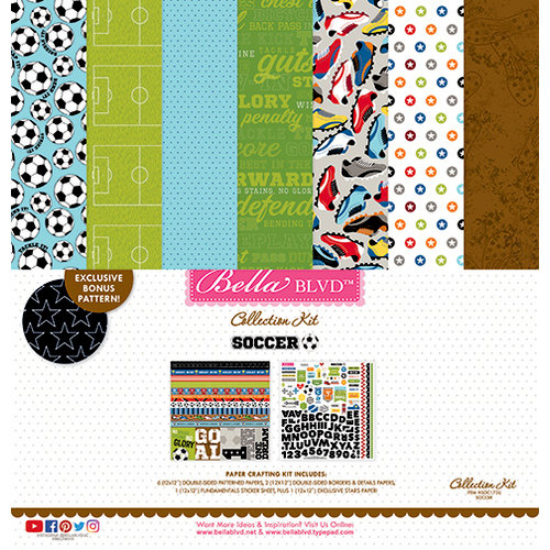 Bella Blvd - Soccer Collection - 12 x 12 Collection Kit