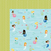 Bella Blvd - Secrets of the Sea Collection - Girl - 12 x 12 Double Sided Paper - Best Fins Forever