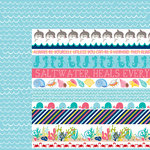 Bella Blvd - Secrets of the Sea Collection - Girl - 12 x 12 Double Sided Paper - Borders