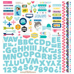 Bella Blvd - Secrets of the Sea Collection - Girl - 12 x 12 Cardstock Stickers - Fundamentals