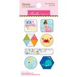Bella Blvd - Secrets of the Sea Collection - Girl - Epoxy Stickers - Icons