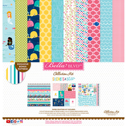Bella Blvd - Secrets of the Sea Collection - Girl - 12 x 12 Collection Kit
