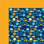 Bella Blvd - Secrets of the Sea Collection - Boy - 12 x 12 Double Sided Paper - Finding Fishies