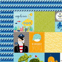 Bella Blvd - Secrets of the Sea Collection - Boy - 12 x 12 Double Sided Paper - Daily Details
