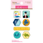 Bella Blvd - Secrets of the Sea Collection - Boy - Epoxy Stickers - Icons