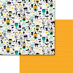 Bella Blvd - Sweet and Spooky Collection - Halloween - 12 x 12 Double Sided Paper - Smell My Feet