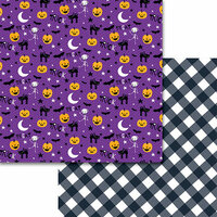 Bella Blvd - Sweet and Spooky Collection - Halloween - 12 x 12 Double Sided Paper - Midnight Jive