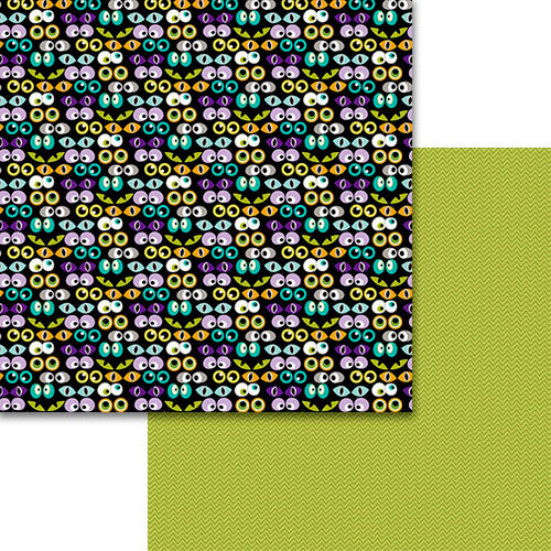 Bella Blvd - Sweet and Spooky Collection - Halloween - 12 x 12 Double Sided Paper - Watching You