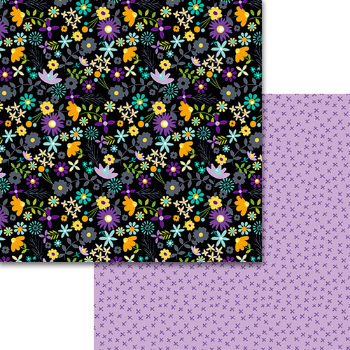 Bella Blvd - Sweet and Spooky Collection - Halloween - 12 x 12 Double Sided Paper - Night Garden