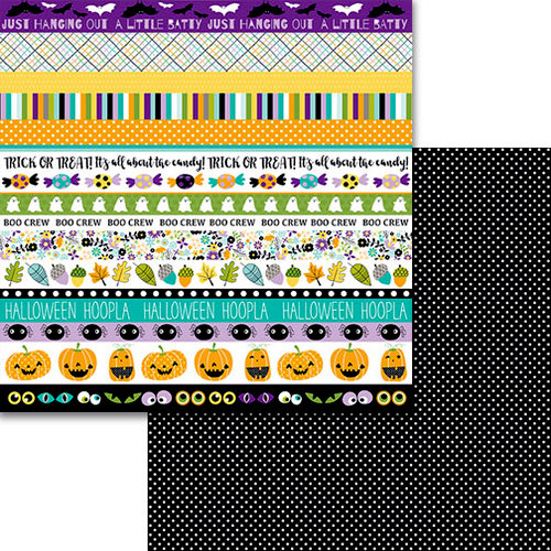 Bella Blvd - Sweet and Spooky Collection - Halloween - 12 x 12 Double Sided Paper - Borders